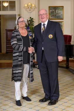 Susan Healy with Governor General, Peter Cosgrove.